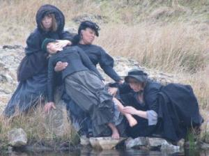 Dancers by the river